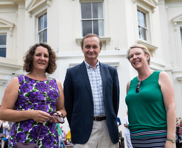 Karen Dobson, Cllr Mark Rhodes and Tanya Harding, PA to directors