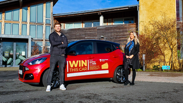 Jordan Proctor, Charity Account Executive, Charity Escapes and Beth Aynsley from Vertu Motors plc