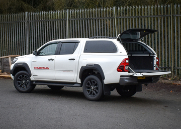 The new Toyota Hilux featuring the Truckman Grand hardtop