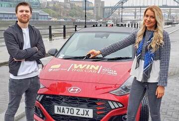 Jordan Proctor, Charity Account Executive, Charity Escapes with Beth Aynsley of Bristol Street Motors